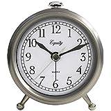 Equity 25655 Metal Quartz Alarm Clock