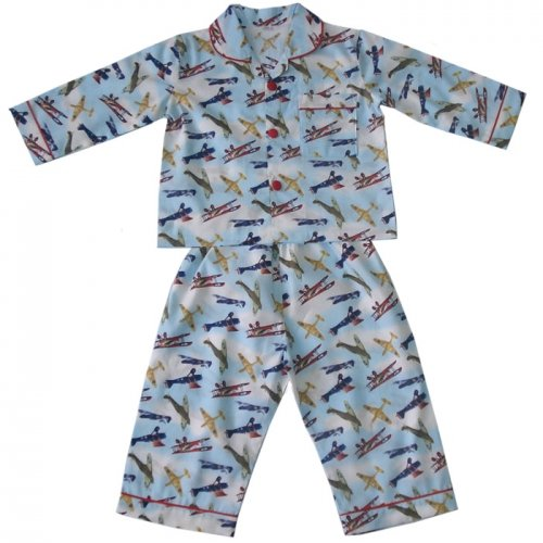 100-cotton-pyjamas-powell-craft-douglas-spitfire-vintage-aeroplanes-2-3-years