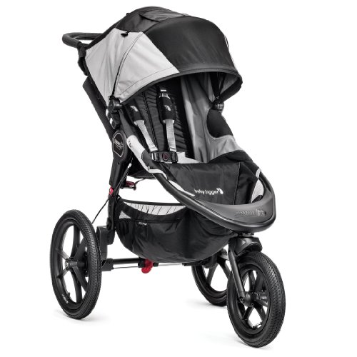 Baby Jogger Summit X3 Single Stroller, Black/Gray front-1059734