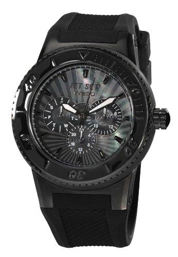 Jet Set J6444B-237 - Reloj analógico de cuarzo unisex, correa de caucho color negro