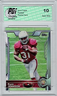 David Johnson 2015 Topps Football #473 Arizona Cardinals Rookie Card PGI 10