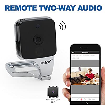Conbrov WF90V2 HD Mini Wireless Enhanced Wifi Module Indoor Home Security Nanny Camera Network IP Day Night Vision,Two-Way Audio ,Video Surveillance and Motion Activated Detection Cam from Conbrov Group