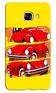 Omnam Vintage Car In Three Poses Desinger Back Cover Case for Samsung Galaxy C7