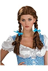 Wizard of Oz Dorothy Style Brunette Synthetic Costume Wig