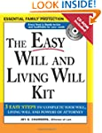 Easy Will and Living Will Kit with CD...