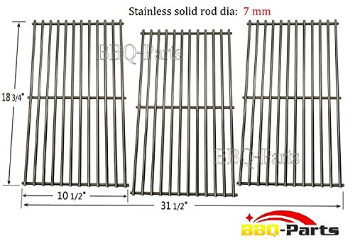 Hongso SCD453 BBQ Barbecue Replacement Stainless Steel Cooking Grill Grid Grate for Master Centro, Charbroil, Sam's Club, Members Mark, Jenn-Air, and Other Model Grills, Set of 3 (Jenn Air Grate compare prices)