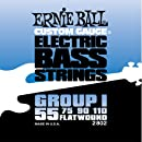 Ernie Ball 2802 Flatwound Bass Set Group I, .055 - .110