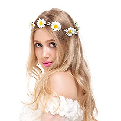 Valdler Exquisite Little Daisy Flower Headband Crown for Wedding Festivals