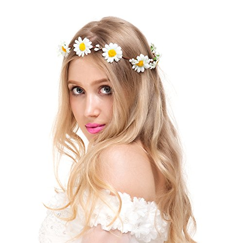 valdler-little-daisy-flower-headband-crown-with-adjustable-ribbon-for-wedding-festivals-ivory