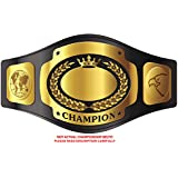 **STICKERS** GOLD UNDISPUTED CHAMPION CHAMPIONSHIP BELT GOLDEN BLACK YELLOW Vinyl Decal Sticker Two in One Pack (12 Inches Wide)