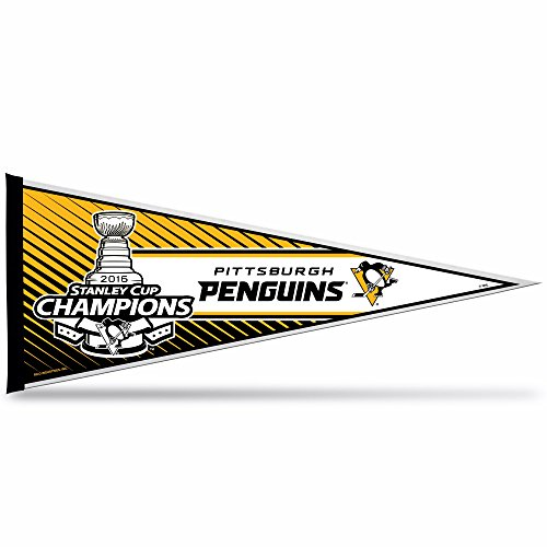 NHL Pittsburgh Penguins 2016 Stanley Cup Champions Pennant with Hang Card