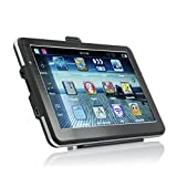 Dinly 7 inch Car GPS Navigation 800x480 LCD True Color Touch Screen 8GB Memory FM MP3 MP4 New Map (WinCE)