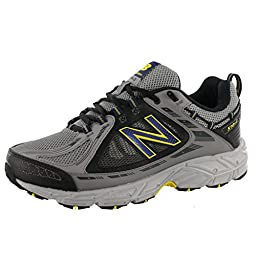 New Balance Men\'s Mt510 Trail Trail Running Shoe,Grey/Yellow,11 4E US