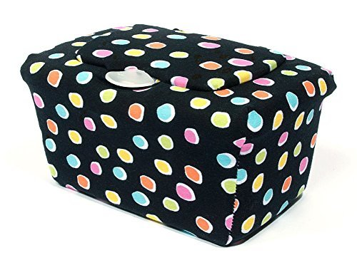 WipesWrap Stylish Baby Wipes Tub Cover (Fun Dots) - 1
