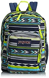 Jansport Big Student Backpack - Navy Super Stripe / 17.5\