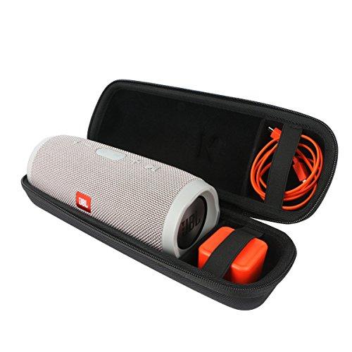 Khanka EVA Dur Cas Voyage Etui Housse Sac Case pour JBL charge 3 stéréo portable sans fil Bluetooth haut-parleur, Convient Chargeur et Câbles