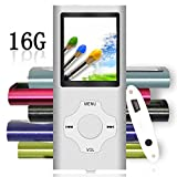Tomameri - Compact and Portable MP3 / MP4 Player with Rhombic Button ( Including a 16 GB Micro SD Card ) Supporting Photo Viewer, E- Book Reader and Voice Recorder and FM Radio Video Movie - Silver