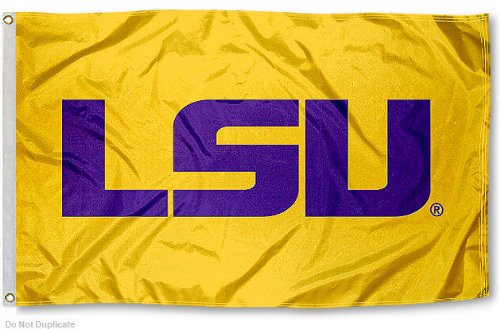 LSU Tigers Gold University Large College Flag