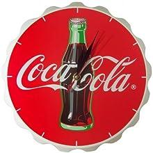 Comprar Coca Cola - Reloj de pared, diseño de tapón de botella