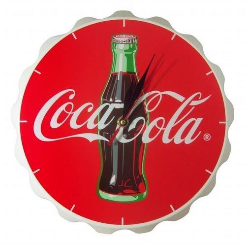 Coca-Cola《コカコーラ》 Wood Contour Bottle Crown Clock☆ウッドクロック☆(木製壁掛時計)【並行輸入品】