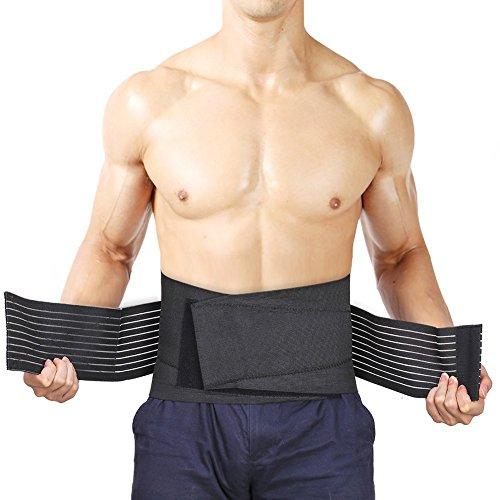GHB Fascia Elastica Lombare Fitness Supporto Schiena Regolabile L 86.4-111.8cm per Sport/Uso Quotidiano Unisex