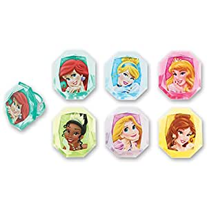 DecoPac Disney Princess Gemstone Princess Cupcake Rings