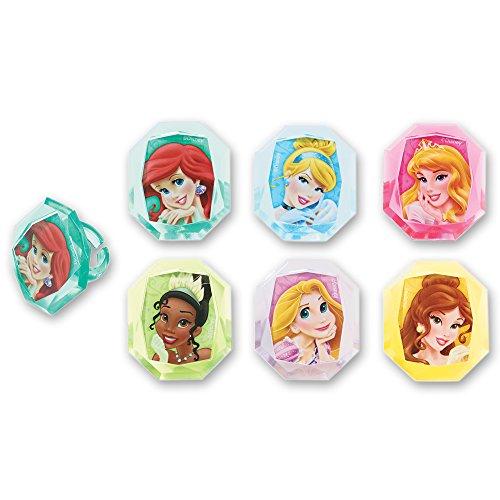 DecoPac Disney Princess Gemstone Princess Cupcake Rings (12 Count) (Ariel Gem Ring compare prices)
