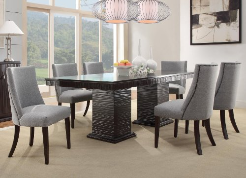 Homelegance 2588s accent dining chair set of 2 blue for Blue grey dining room