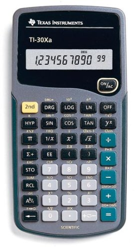 Calculator, Scientific; Texas Instruments; TI-30Xa; Shows 8 digits or 5 digits and 2-digit exponent (Texas Instruments Ti 30xa compare prices)