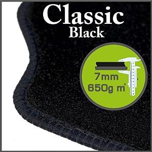 Peugeot Partner Combi 2001 - 2007 Classic Black Tailored Floor Mats