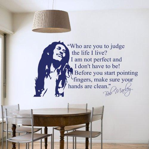 Bob Marley - Adesivo da parete, adatto per soggiorno e camera (grandezza media)