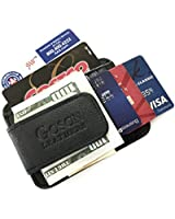 Goson® Leather Money Clip & Credit Card Holder - Top Grain Cowhide Leather only P&P Inc.