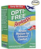 Opti-Free Replenish Multi-Purpose Disinfecting Solution, Carry On Size, 2-Fluid Ounces Bottles (Pack of 6)