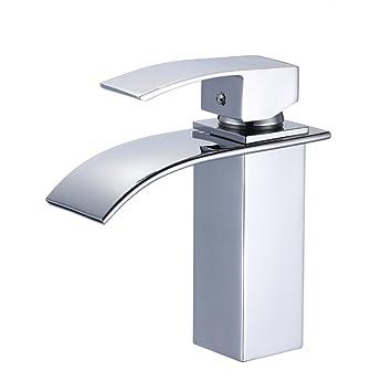 auralum design einhebel wasserhahn armatur waschtischarmatur wasserfall einhandmischer f r. Black Bedroom Furniture Sets. Home Design Ideas