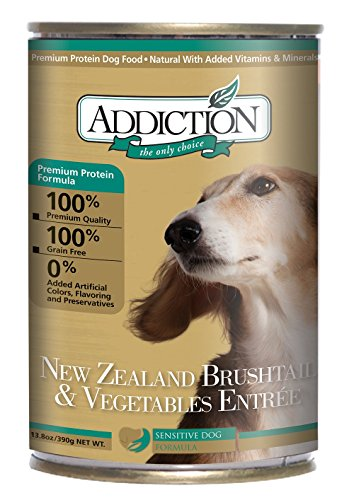 New Zealand Brushtail & Vegetables Dog Food (12/13.8 Ounce Cans) (Addiction Canned Dog Food compare prices)