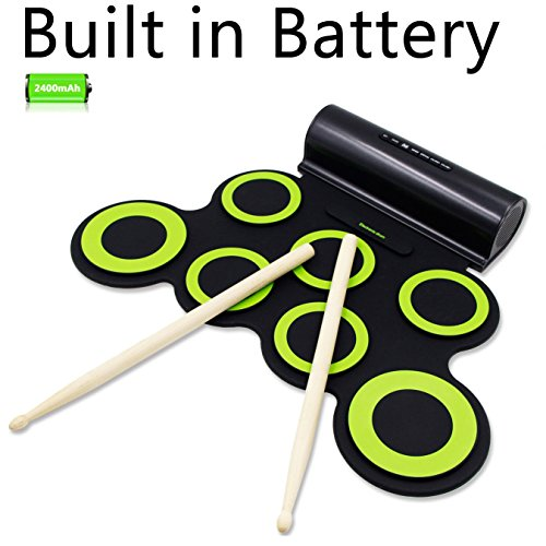 rockpals-roll-up-drum-electronic-drum-set-with-rechargeable-battery-10-hours-playtime-built-in-speak