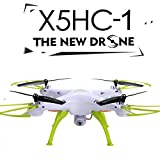 Voomall Syma X5HC 2.4G 4CH 6-Axis Gyro 2MP HD Camera RC Quadcopter with Height Hold Mode White