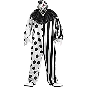 FunWorld Killer Clown Complete, Black/White, One Size