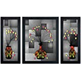 Delight Flower Poster With Black Frame Set Of 3 - B01F500J4Q