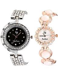 CB Fashion Combo Of Analog Multicolour Dial Women's Watch (RW129)
