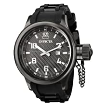 Invicta Men s 0555 Russian Diver Collection Black Rubber Watch