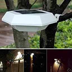 Saver Solar Power Infrared Induction 6 White LED Wall-mounted Light Garden Outdoor Superbright Street Lamp