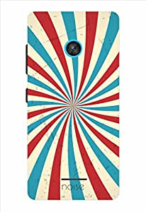 Noise Red And White Swirl Printed Cover for Nokia Lumia 435