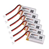 Keenstone 6Pcs 3.7V 720mAh 20C Lipo Battery for Syma X5C X5SW X5SC X5A
