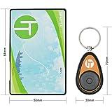 Incutex Schlüsselfinder mit Transmitter im Kreditkarten Format, Hilfe zum Aufspüren von Schlüssel, Orange