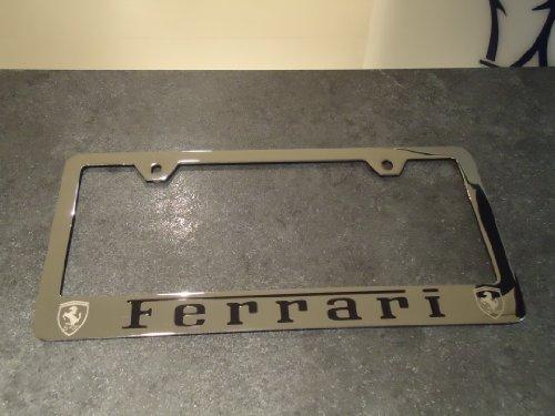 Aftermarket Ferrari Stainless Steel License Plate Frame Hoamaomornonaono