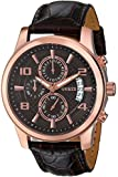 Picture Of GUESS Men's U0076G4 Stainless Steel Watch with Brown Leather Band