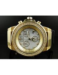 Mens New Joe Rodeo Panter 2 Row White Diamond Watch JPT 15