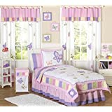 Pink and Purple Butterfly Collection Children's Bedding3pc Full / Queen Set by Sweet Jojo Designs