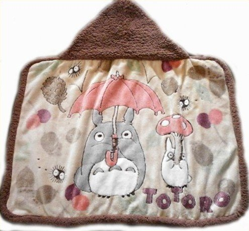 Totoro Majo blanket with hood and be jolly boar rug = Afghan Swaddle baby stroller warm or hanging diaper refill sheets! = 内 祝 I * baby gifts and gifts please = baby (My Neighbor Totoro)